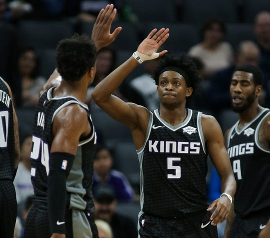 De'Aaron Fox (5) and Buddy Hield (24) are looking to get the Kings back to the playoffs for the first time since 2006.