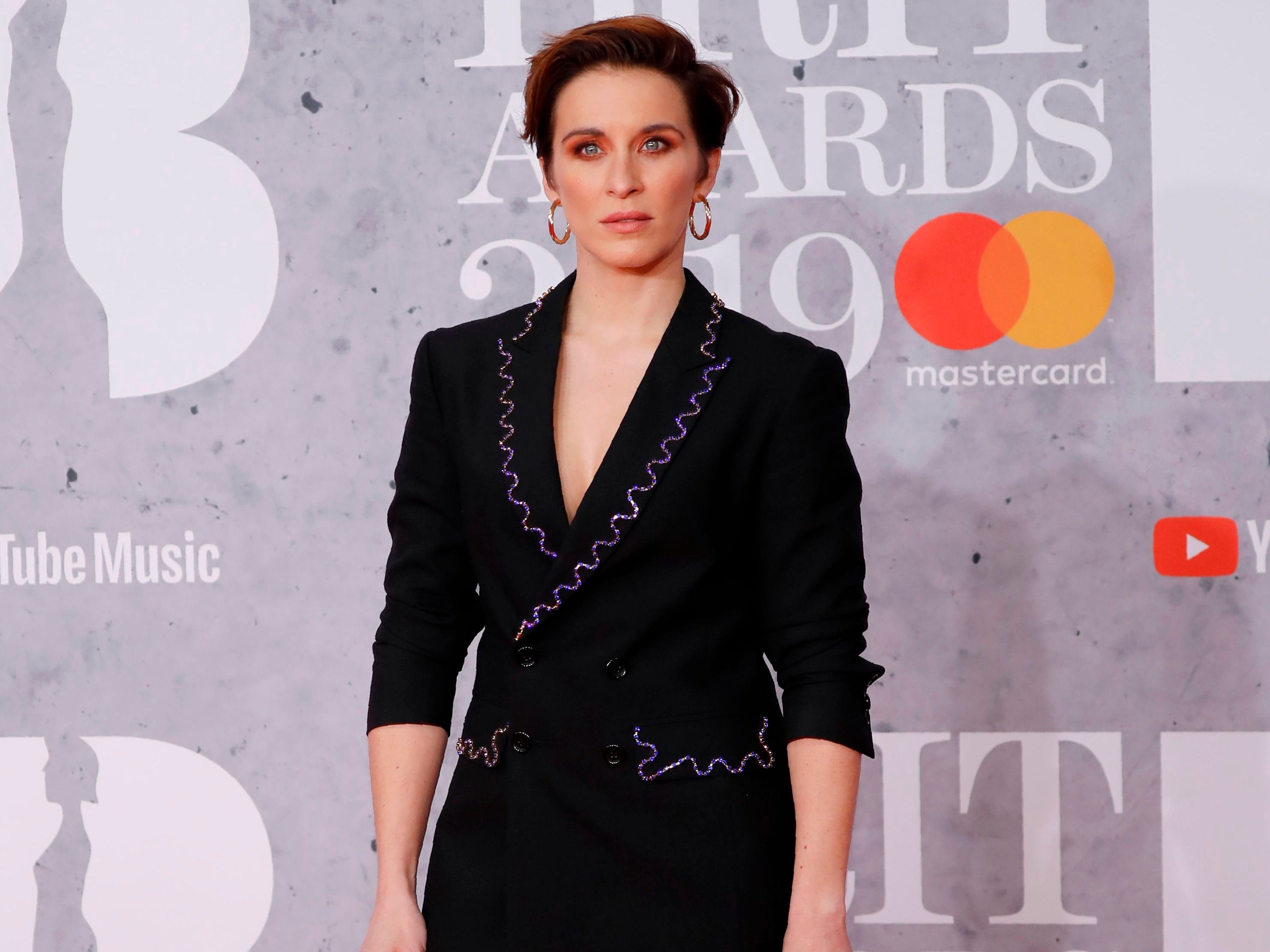 British actor Vicky McClure poses on the red carpet on arrival for the BRIT Awards 2019 in London on February 20, 2019. (Photo by Tolga AKMEN / AFP) / RESTRICTED TO EDITORIAL USE  NO POSTERS  NO MERCHANDISE NO USE IN PUBLICATIONS DEVOTED TO ARTISTSTOLGA AKMEN/AFP/Getty Images ORIG FILE ID: AFP_1DO1DV