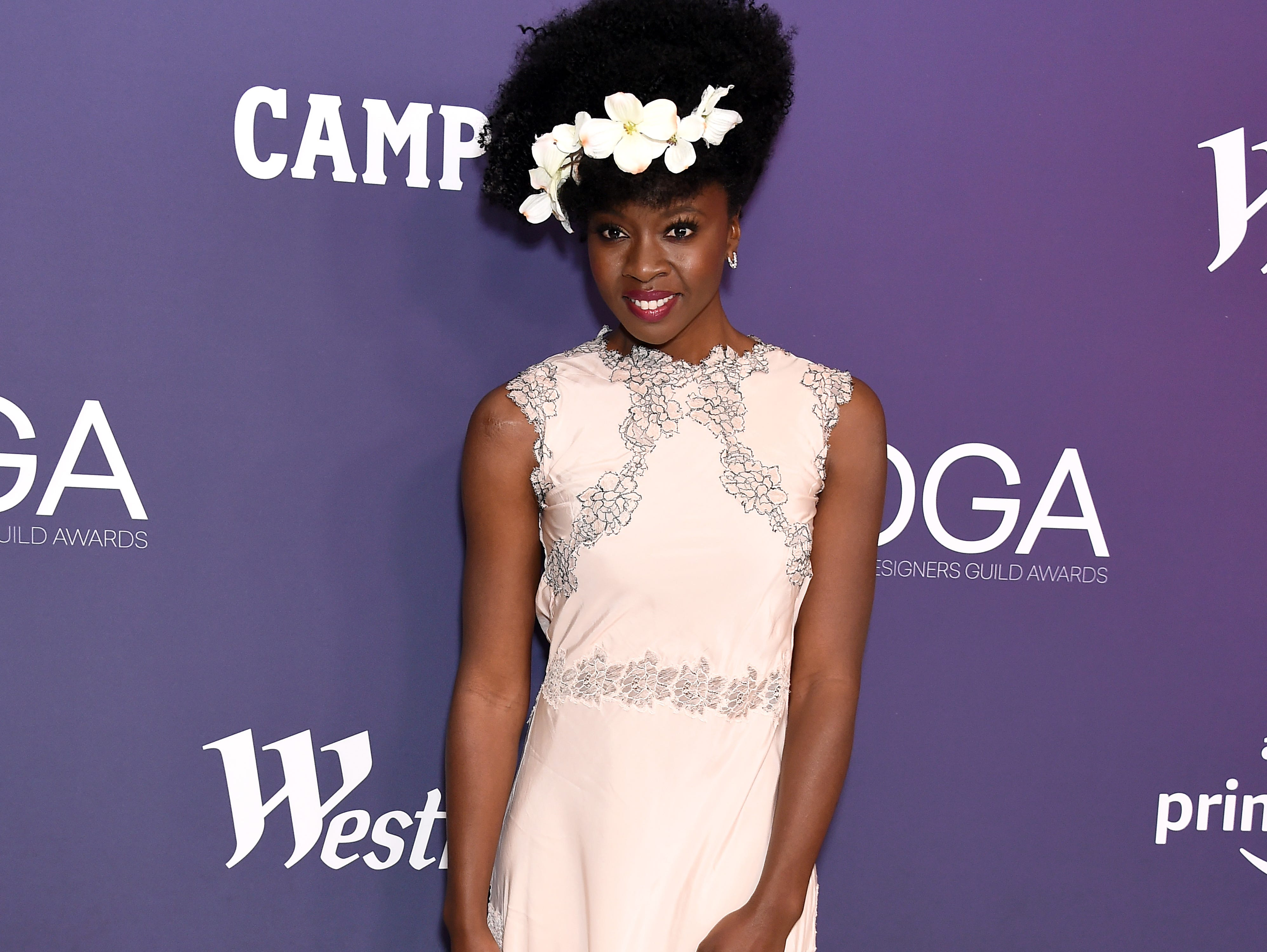 BEVERLY HILLS, CALIFORNIA - FEBRUARY 19: Danai Gurira attends The 21st CDGA (Costume Designers Guild Awards) at The Beverly Hilton Hotel on February 19, 2019 in Beverly Hills, California. (Photo by Gregg DeGuire/WireImage) ORG XMIT: 775282683 ORIG FILE ID: 1130829075