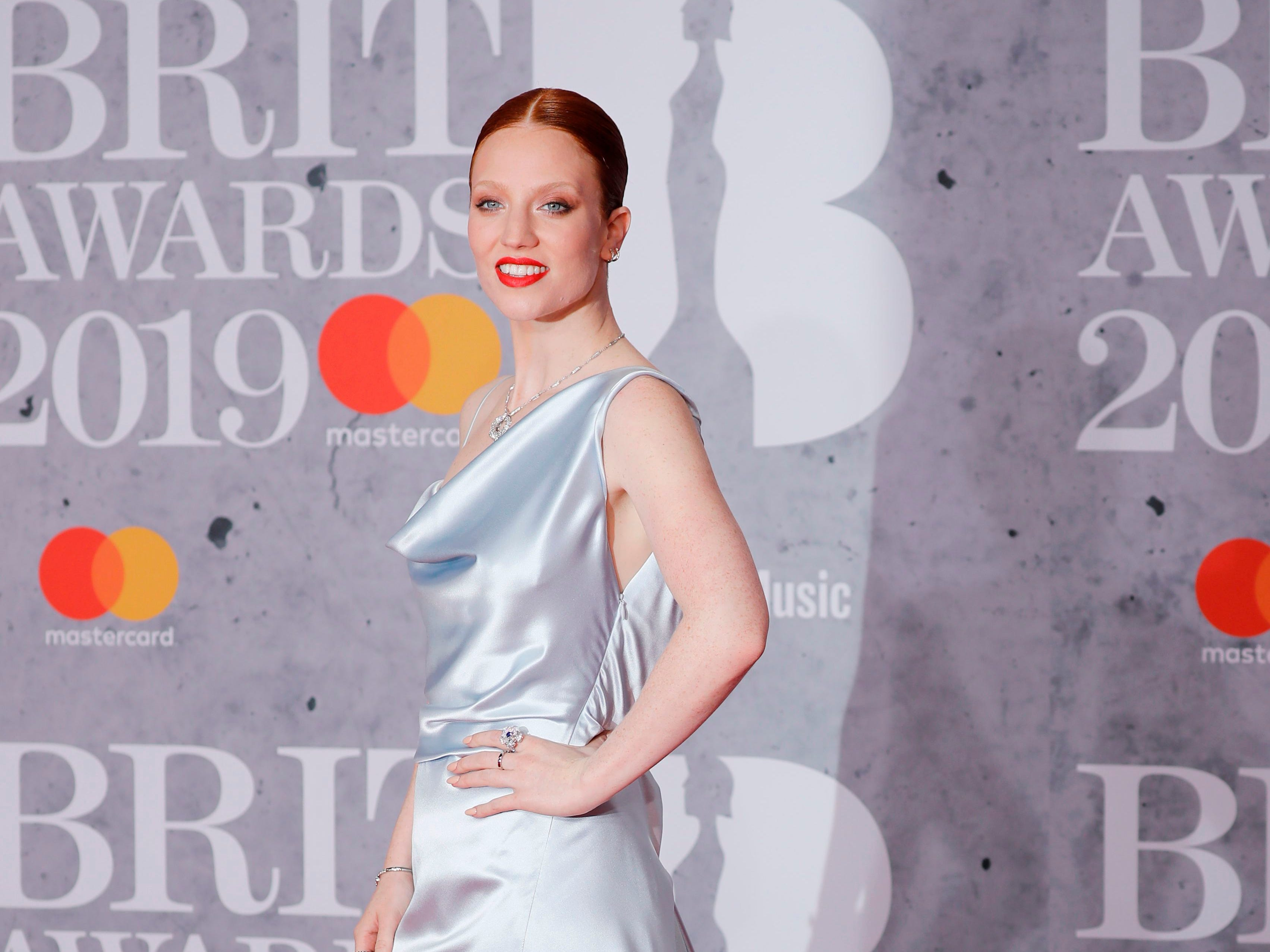 British singer-songwriter Jess Glynne poses on the red carpet on arrival for the BRIT Awards 2019 in London on February 20, 2019. (Photo by Tolga AKMEN / AFP) / RESTRICTED TO EDITORIAL USE  NO POSTERS  NO MERCHANDISE NO USE IN PUBLICATIONS DEVOTED TO ARTISTSTOLGA AKMEN/AFP/Getty Images ORIG FILE ID: AFP_1DO125