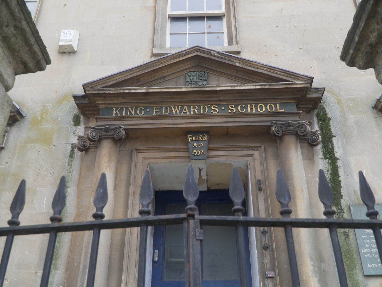 Another treasure of Bath: King Edward's School, founded in 1552.