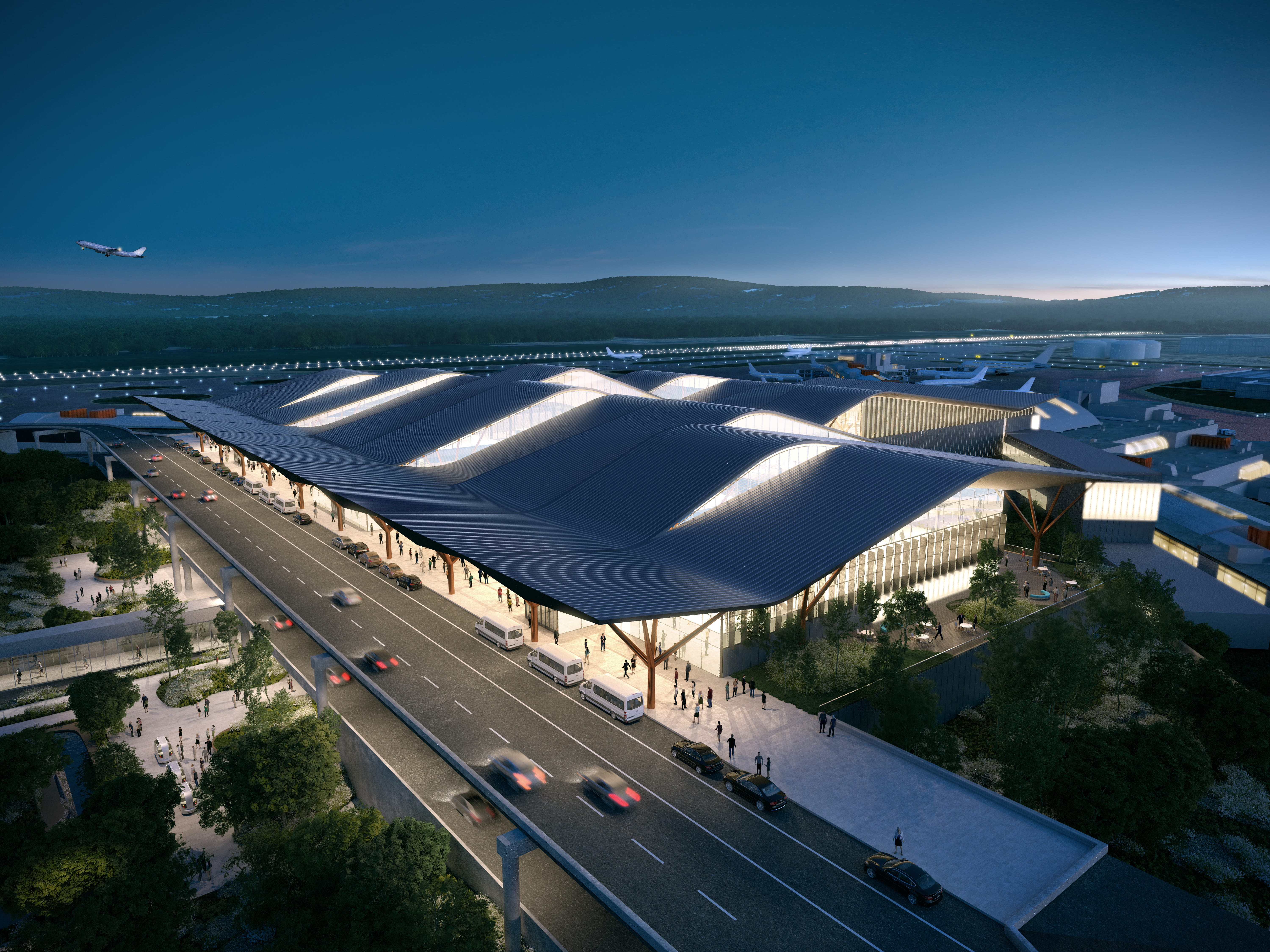 Pittsburgh's airport shows off plans for new $1.1 billion terminal