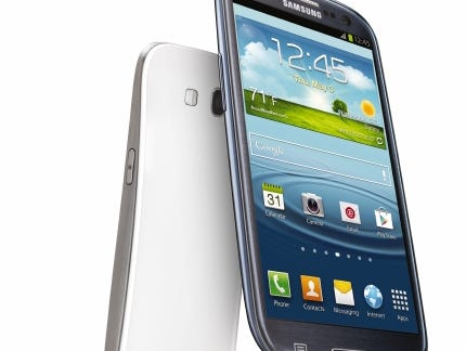 Announced in 2012, Samsung's Galaxy S III had a 4.8-inch HD display, 8-megapixel rear camera and a 1.9-megapixel front camera.