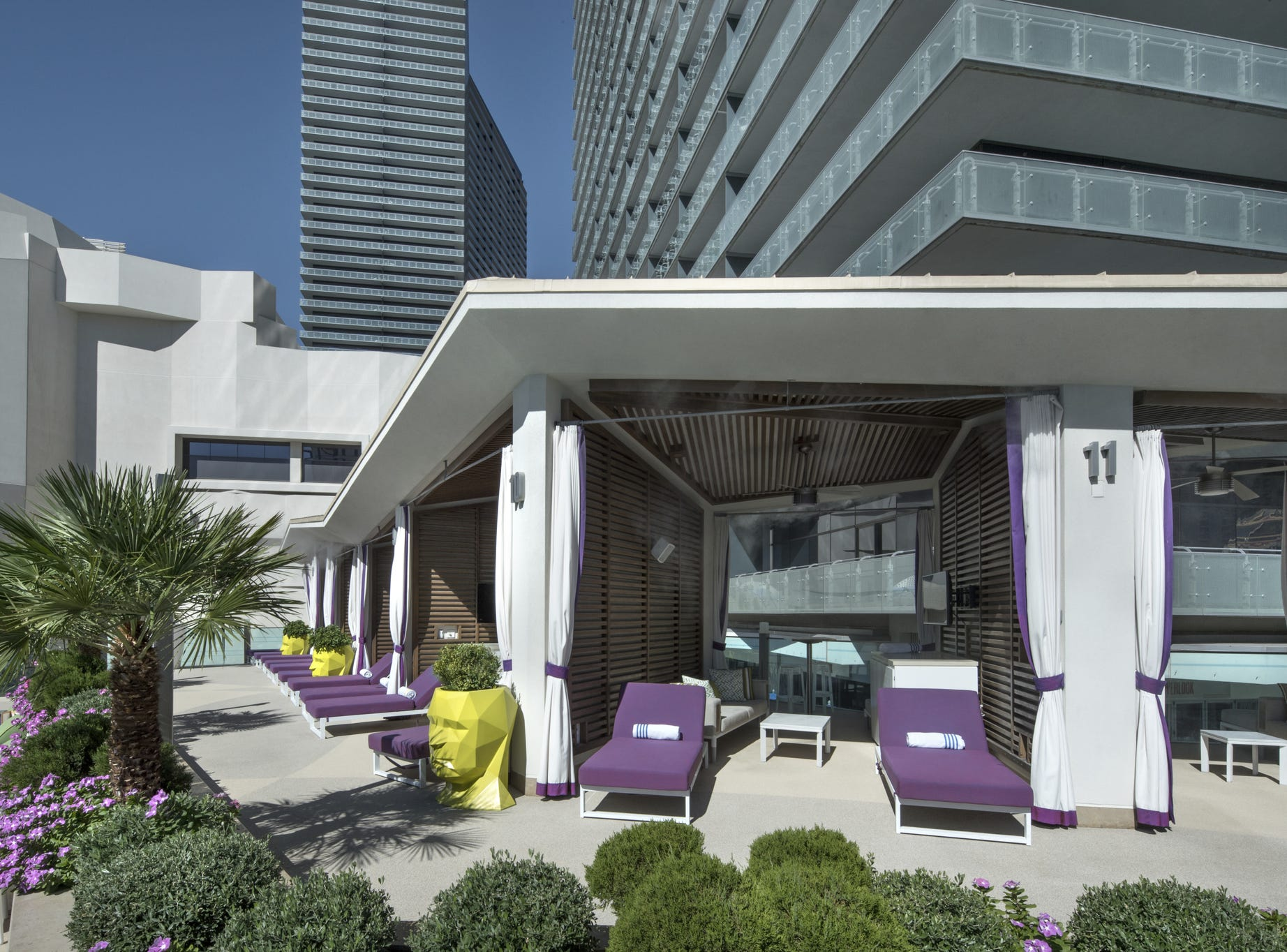 The Boulevard Pool at Cosmopolitan Las Vegas offers cabanas for rent. The include a fridge stocked with soda and water, dedicated server, fruit plate, TV, sunscreen and more. The price for a weekend day during spring break: $900. That includes food and beverages.