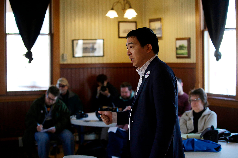 Entrepreneur Andrew Yang is a Democrat running for President. He entered the race on Nov. 6, 2018.