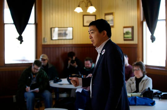 Entrepreneur Andrew Yang is a Democrat running for President. He entered the race on Nov. 6, 2018.