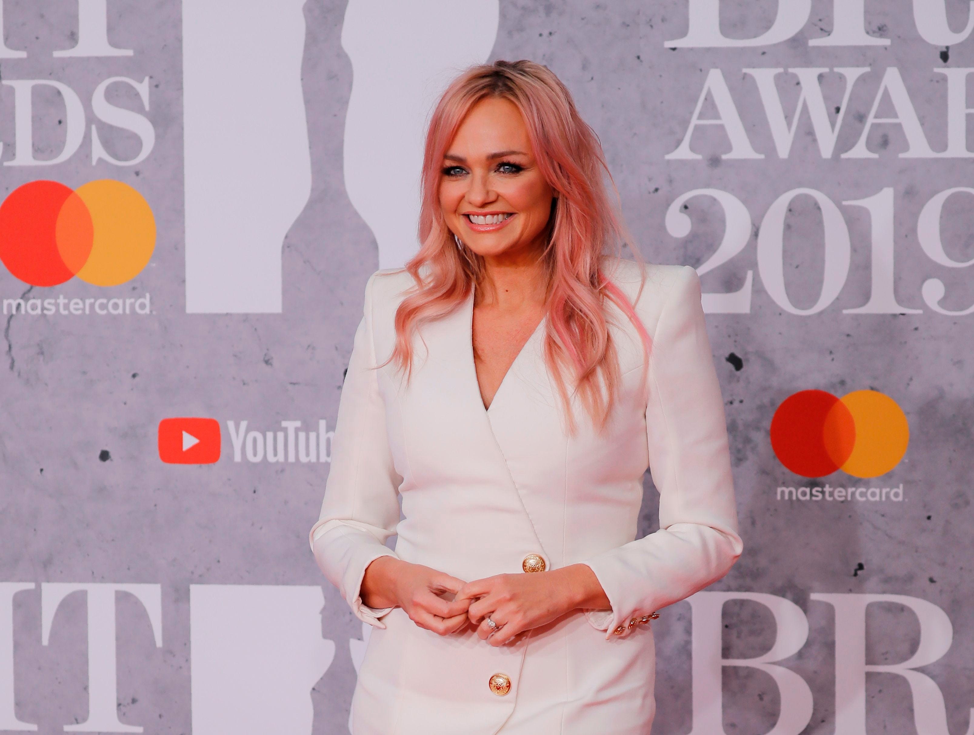 British singer Emma Bunton, member of The Spice Girls, poses on the red carpet on arrival for the BRIT Awards 2019 in London on February 20, 2019. (Photo by Tolga AKMEN / AFP) / RESTRICTED TO EDITORIAL USE  NO POSTERS  NO MERCHANDISE NO USE IN PUBLICATIONS DEVOTED TO ARTISTSTOLGA AKMEN/AFP/Getty Images ORIG FILE ID: AFP_1DO10R