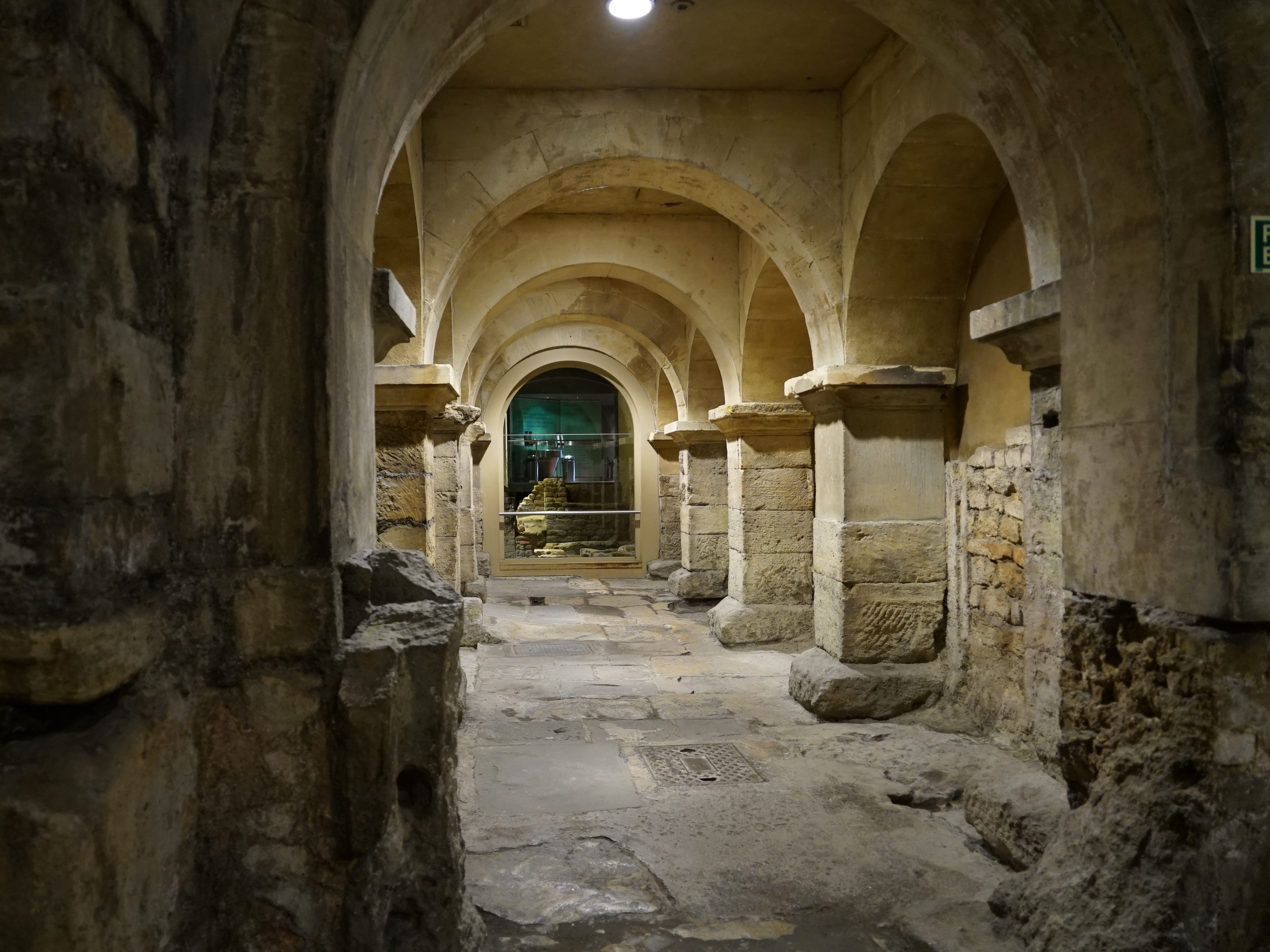 Incredible remnants of the original structure of the Roman Baths.