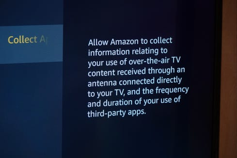 Amazon's data collecting opt-in on its Fire TV Edition branded TVs