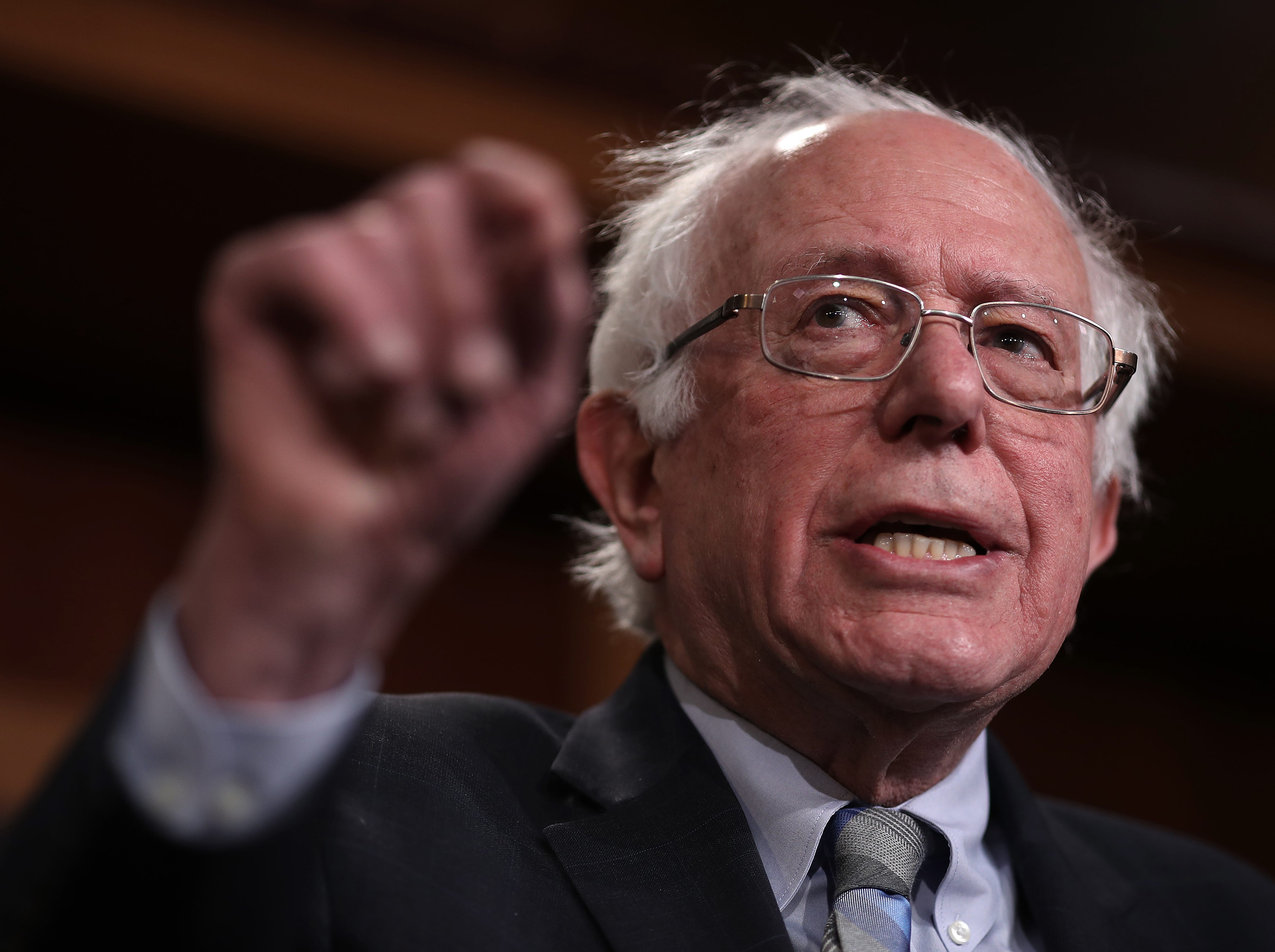 Senator Bernie Sanders, I-VT, announced he was running for president on Feb. 19, 2019.