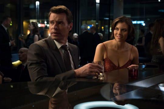 "Scott Foley and Lauren Cohan in ""Whiskey Cavalier."""