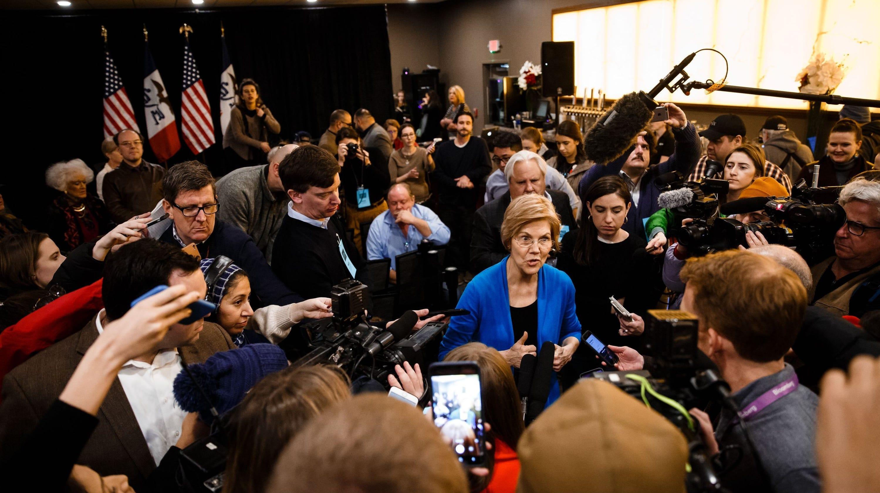Elizabeth Warren unveils plan to 'break up big tech,' including Amazon, Google, Facebook