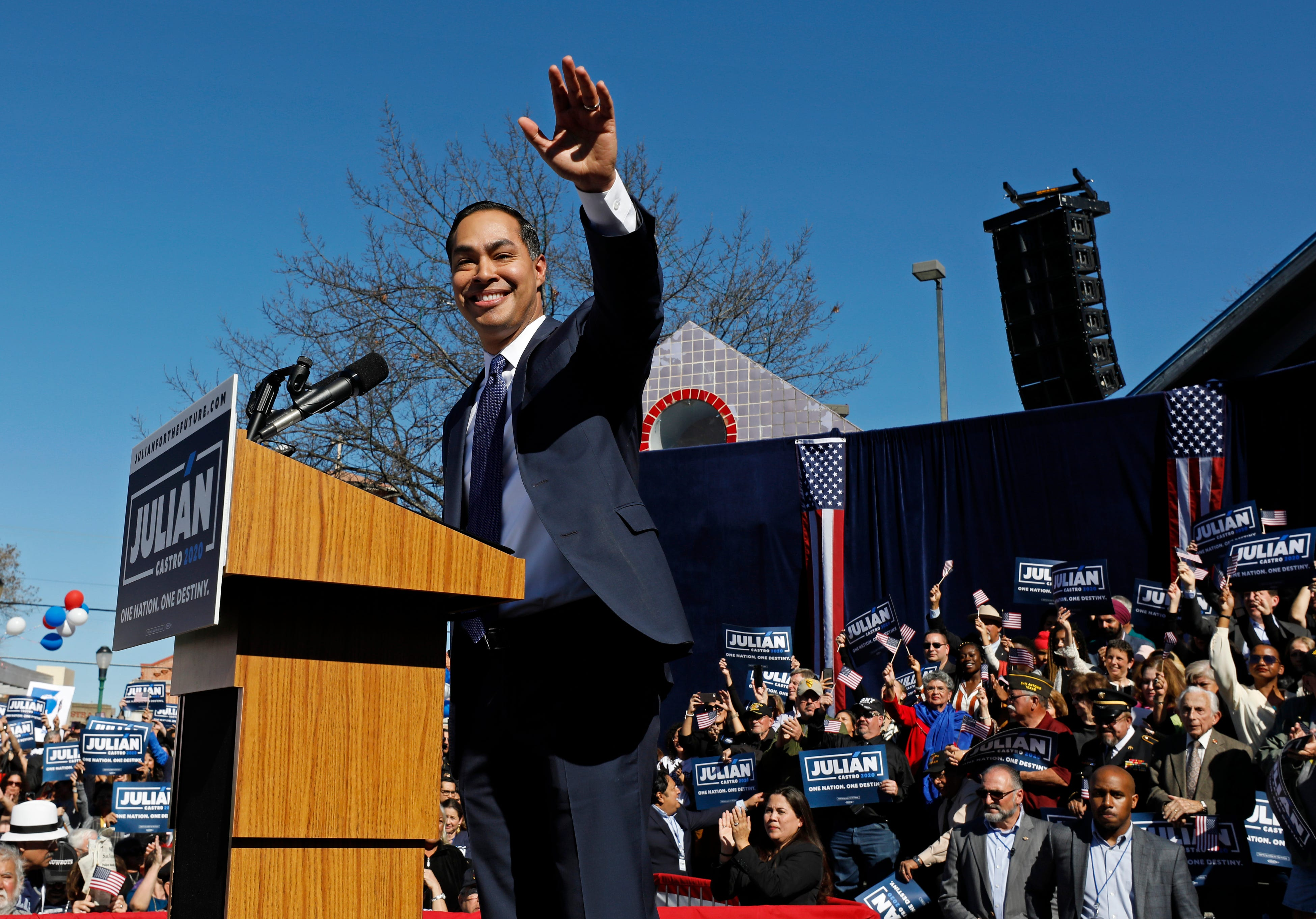 Julian Castro, former U.S. Department of Housing and Urban Development (HUD) Secretary and San Antonio Mayor announced he was running for president on Jan. 12, 2019.