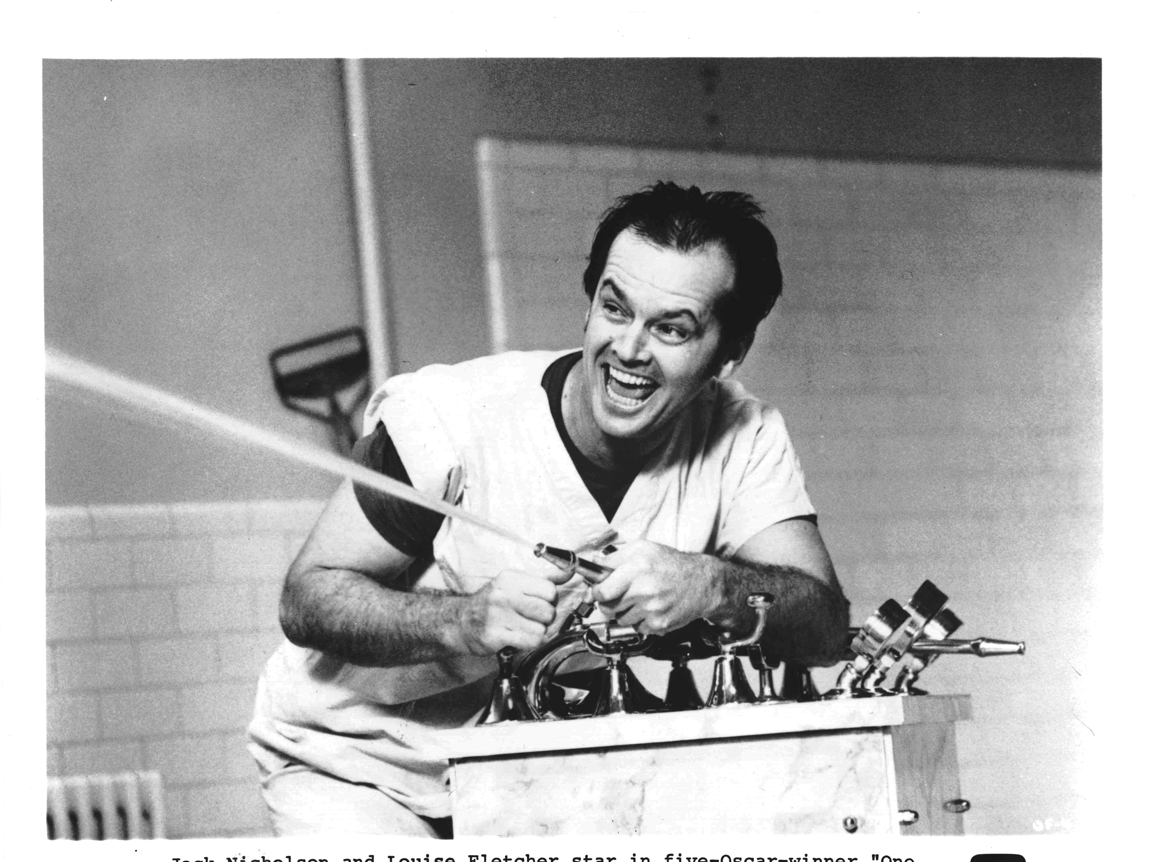 Jack Nicholson in a scene from the motion picture 'One Flew Over the Cuckoo's Nest'