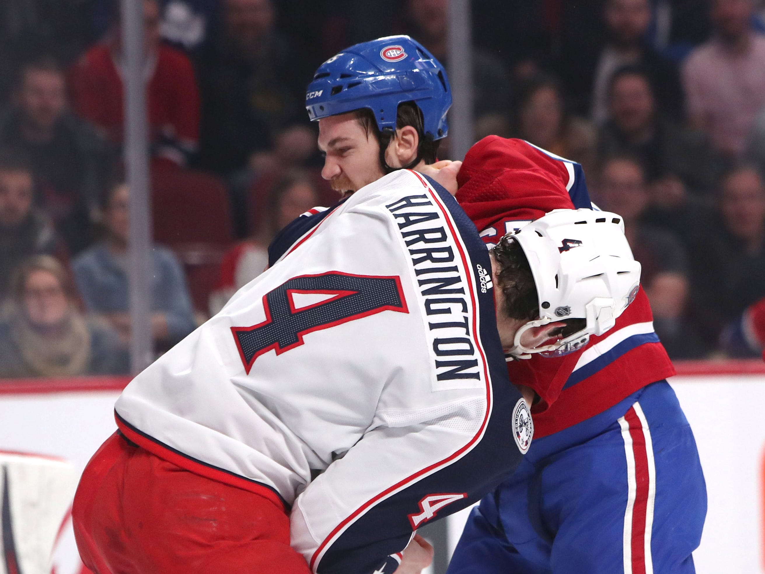 Feb. 19: Montreal Canadiens' Andrew Shaw vs. Columbus Blue Jackets' Scott Harrington