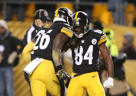 Steelers RB Le'Veon Bell and WR Antonio Brown (84) have been teammates since 2013.