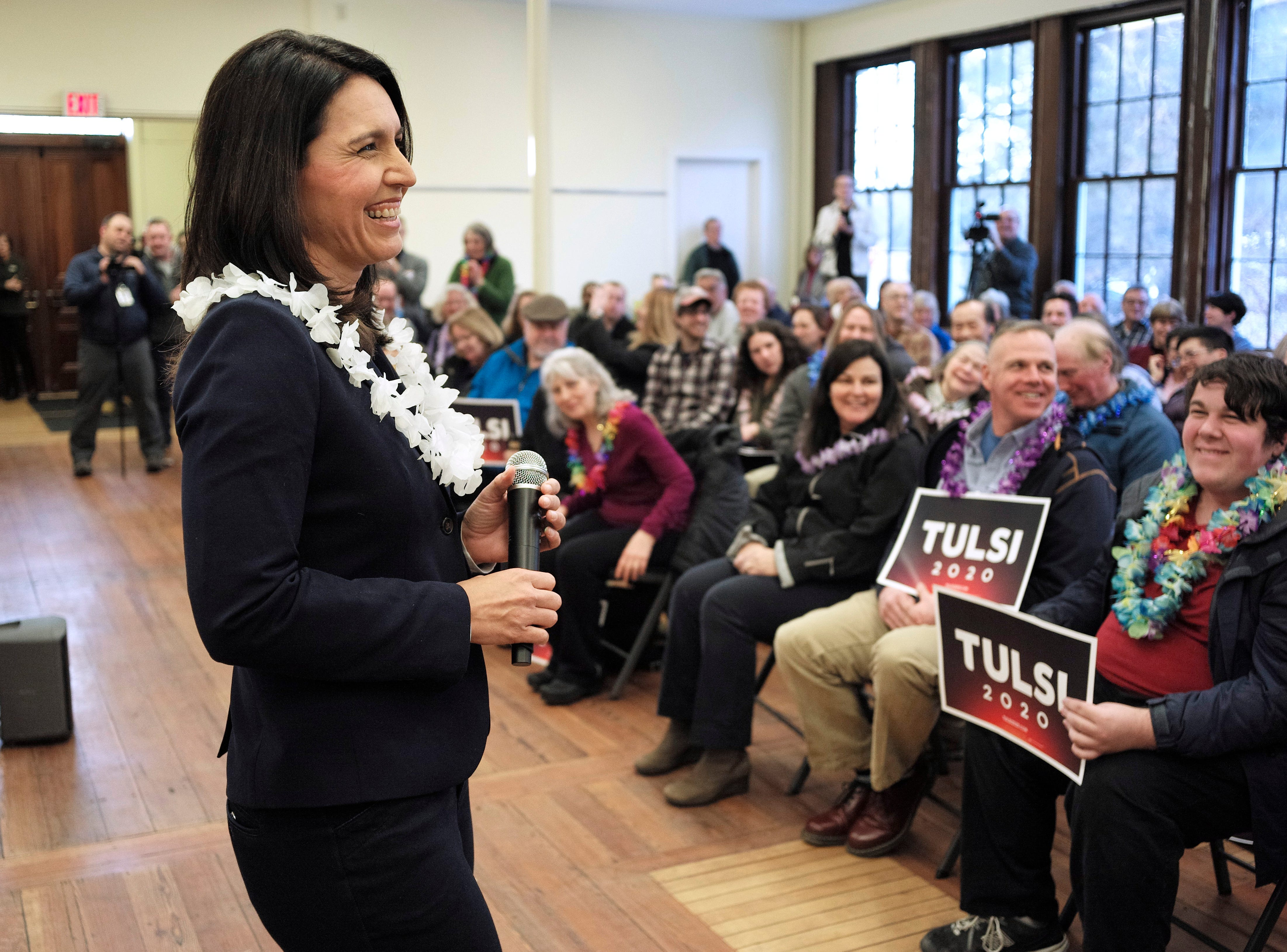 U.S. Rep. Tulsi Gabbard, D-Hawaii announced she was running for president on Feb. 2, 2019.