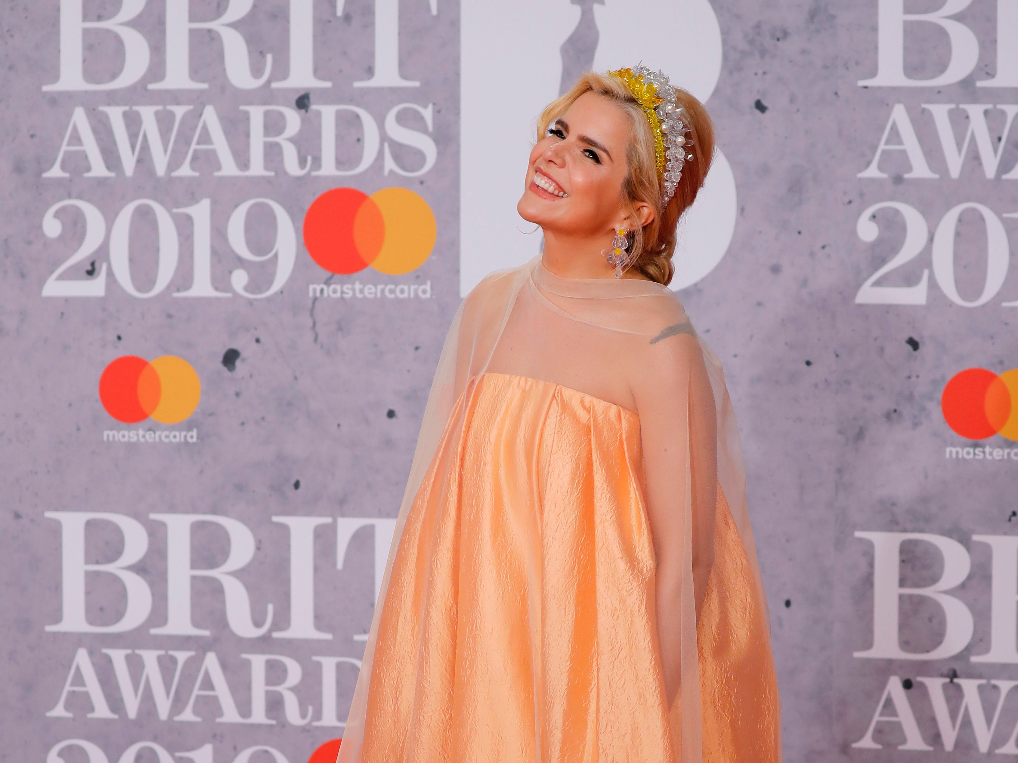 British singer Paloma Faith poses on the red carpet on arrival for the BRIT Awards 2019 in London on February 20, 2019. (Photo by Tolga AKMEN / AFP) / RESTRICTED TO EDITORIAL USE  NO POSTERS  NO MERCHANDISE NO USE IN PUBLICATIONS DEVOTED TO ARTISTSTOLGA AKMEN/AFP/Getty Images ORIG FILE ID: AFP_1DO1PZ