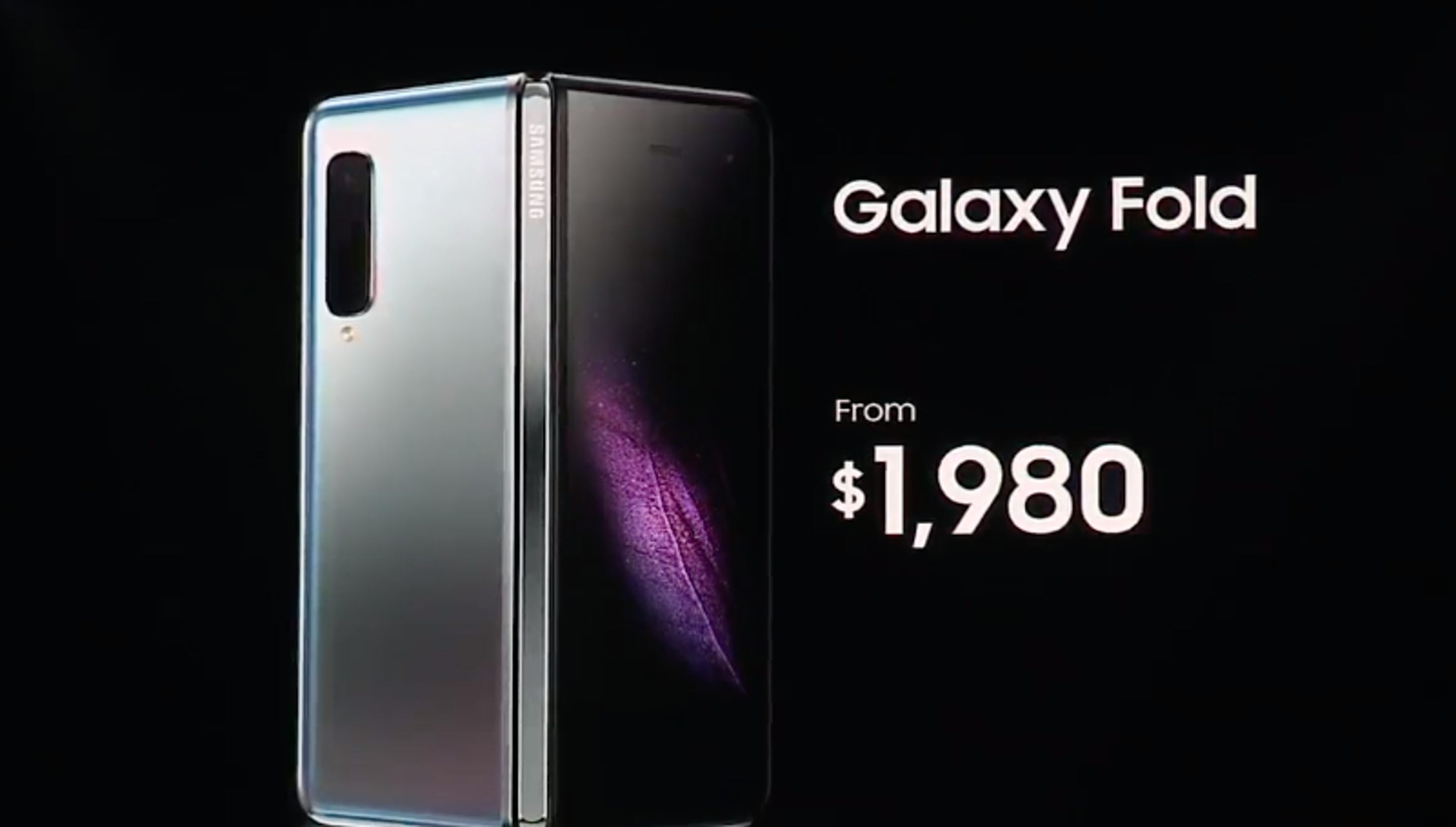Samsung's Galaxy Fold foldable starts at $1,980, launches ...