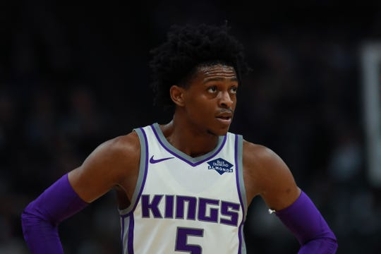 Sacramento Kings guard De'Aaron Fox.