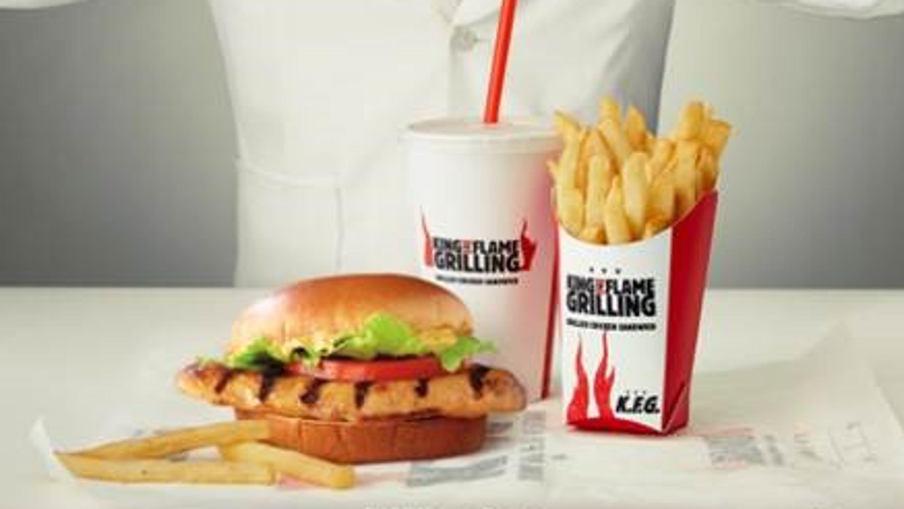 Burger King trolls KFC with new K F G  flamed-grill chicken