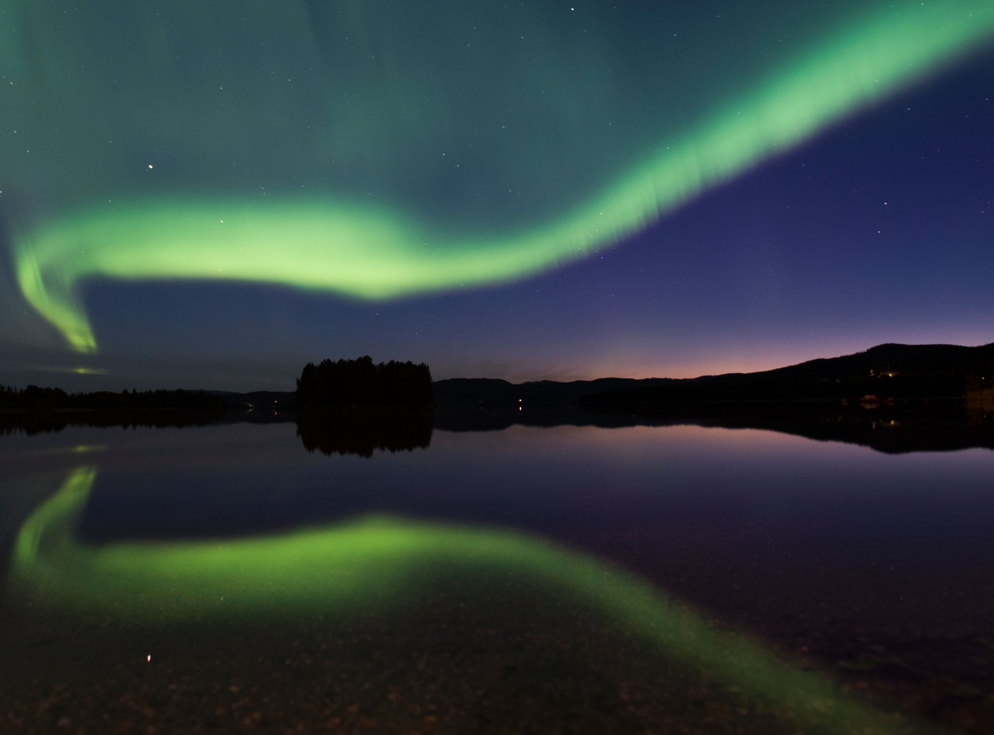 The Northern lights in Sweden.