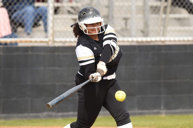 Abilene High's Sydnee Killam (4) hit four home runs in five games last week and drove in 15 runs to earn Local Player of the Week honors for the week ending March 2.