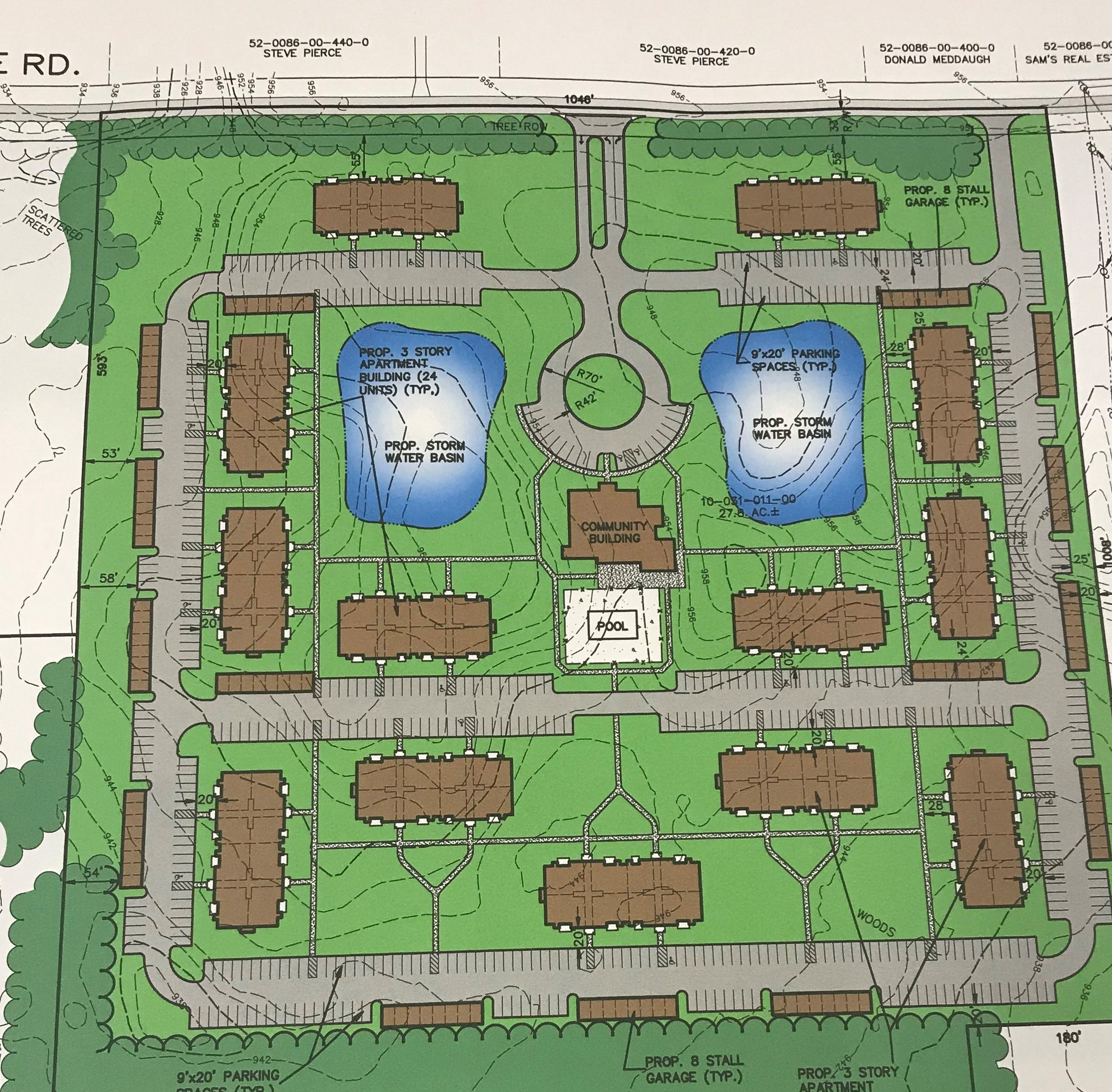 Ohio developer to build 300 'luxury' apartments in Emmett Township