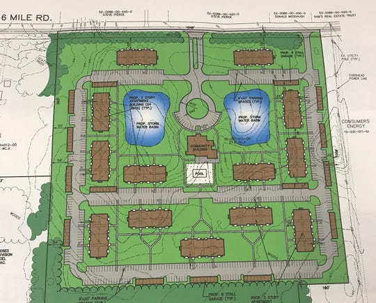 More than 300 luxury apartments are coming to Emmett Charter Township.
