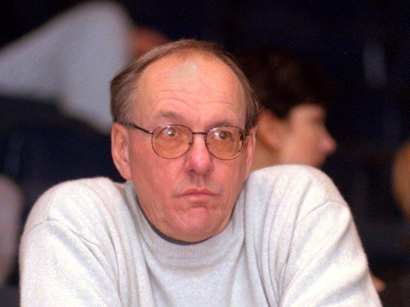 1997: Jim Boeheim, Syracuse University basketball coach, watching one of his recruit playing in the Stop-DWI Holiday Classic at the Arena.