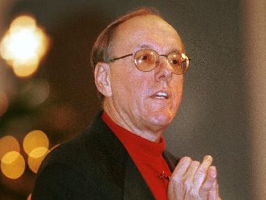 1998: Syracuse Basketball coach Jim Boeheim talks to a crowd at the Binghamton Regency which included coaches and teams involved the Stop DWI Tournament Saturday afternoon.