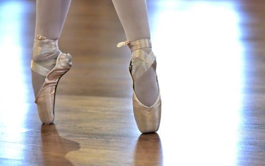 Charleigh Huxtable dances on pointe at The Dancer's Studio in Binghamton. February 20, 2019.