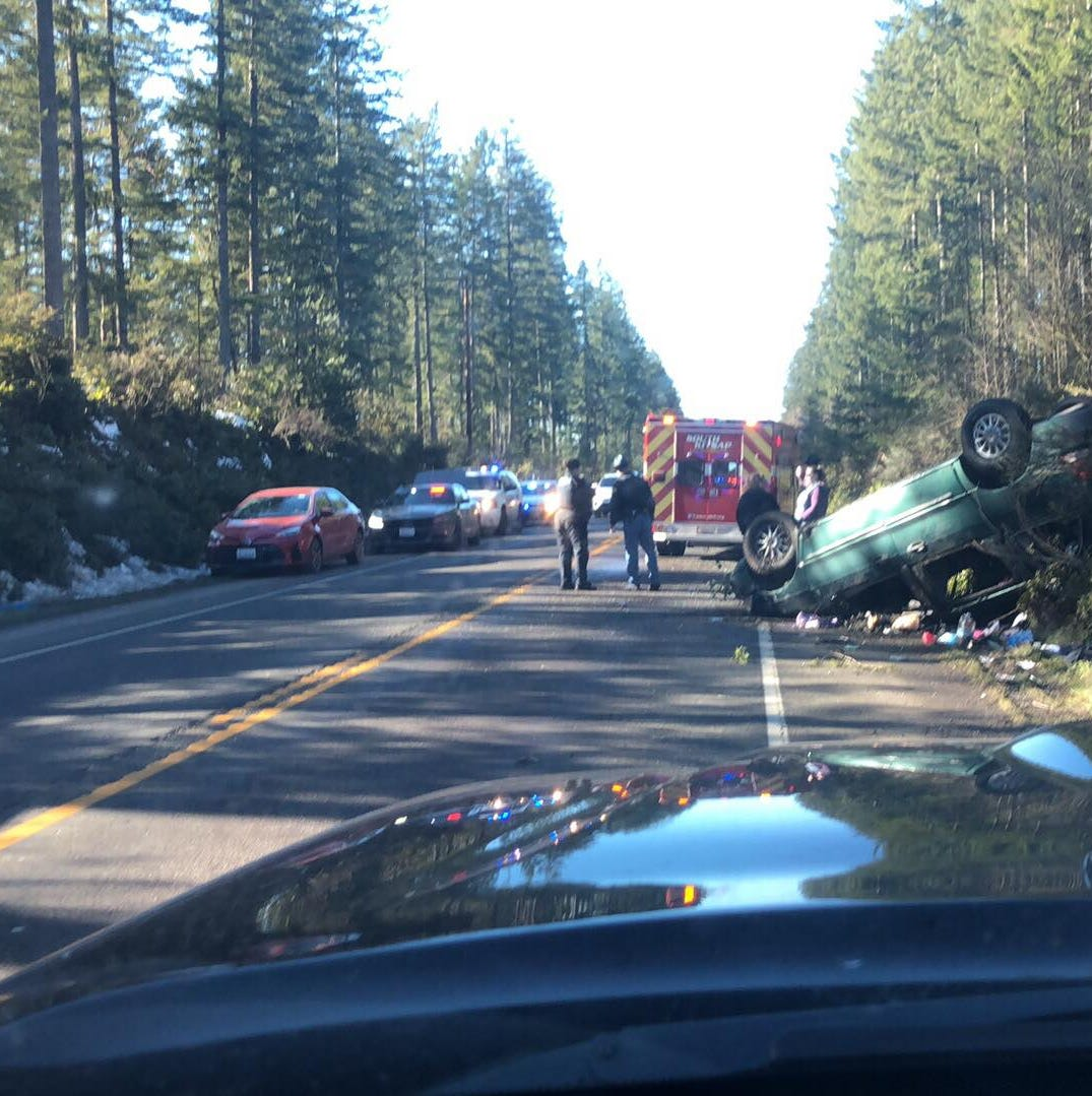 Police: cell phone led to rollover crash near Bremerton airport