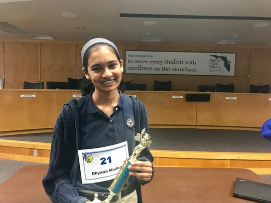 Dhyana Mishra, an eighth-grader at Holy Trinity Episcopal Academy in Melbourne.