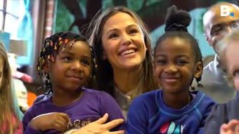 Actress Jennifer Garner visits Burlington, VT, child care center on Thursday, Feb. 21, 2019, to talk about importance of early-childhood education.