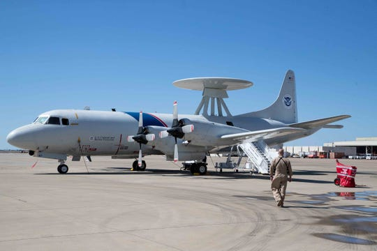 One Customs and Border Protection's P-3 Orion aircrafts at their National Air Security Operations Center on Navy Air Station Corpus Christi on Wednesday, Feb. 20, 2019.