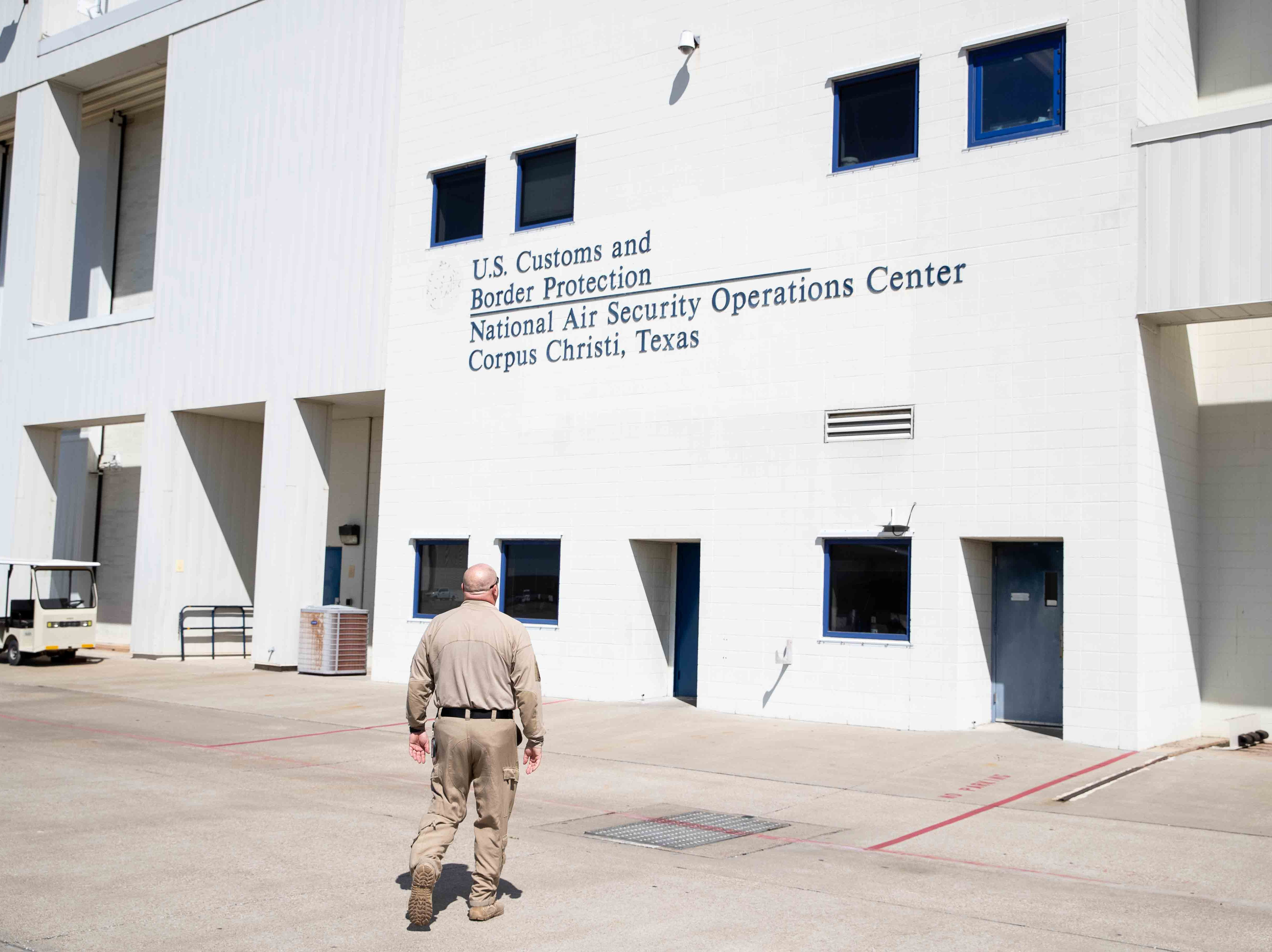 Customs and Border Protection's National Air Security Operations Center on Navy Air Station Corpus Christi on Wednesday, Feb. 20, 2019.