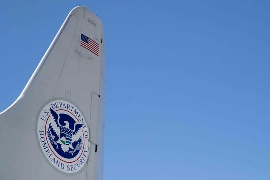 Customs and Border Protection's P-3 Orion aircraft at their National Air Security Operations Center on Navy Air Station Corpus Christi on Wednesday, Feb. 20, 2019.