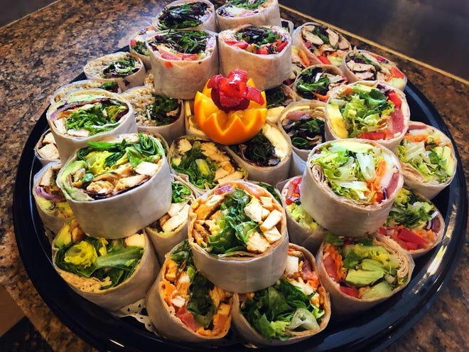 Healthy wraps are a catering and take out favorite at Healthy Garden Natural Food Cafe & Gourmet Pizza in both Voorhees and Moorestown.