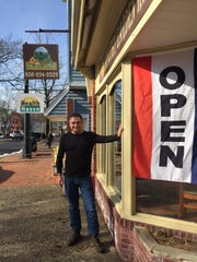 Len Michnik stands outside the Moorestown location of Healthy Garden Cafe.