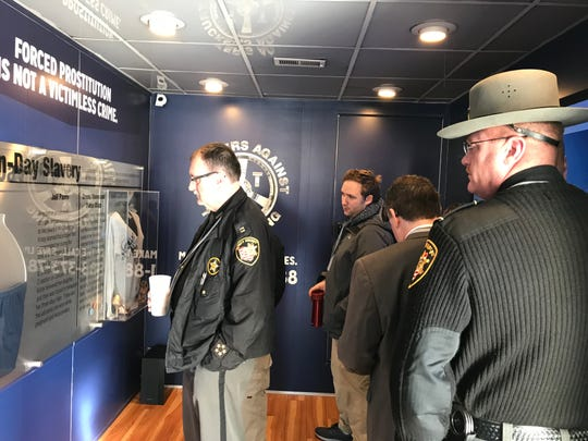 Law enforcement from Ross and Pike counties attended a Truckers Against Trafficking presentation at Kenworth on Thursday, Feb. 21, 2019.