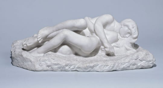 "Auguste Rodin's marble sculpture ""Cupid and Psyche,"" circa 1900. From the collection of the Petit Palais, Paris."