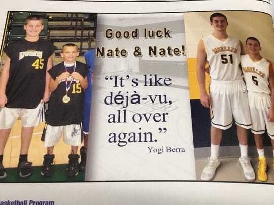 Nate Fowler of Butler and Nate Georgeton played together in grade school and at Moeller
