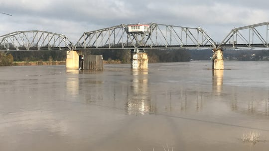 The Cumberland River was high on Thursday, and could flood over the weekend with an additional 2 to 4 inches of rain predicted.