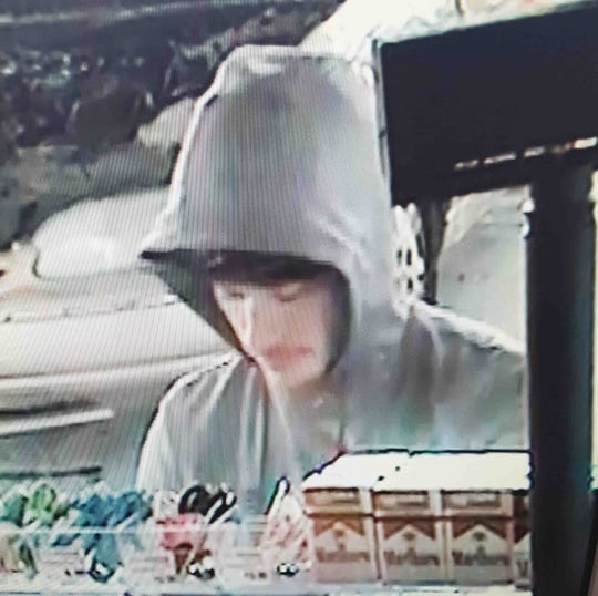 Clarksville Police are looking for this man accused of hitting a woman with a stolen pickup at a gas station on Thursday, Feb. 21, 2019.