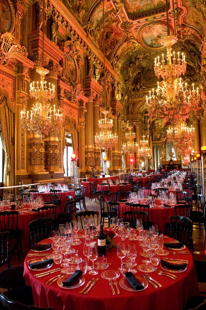 Last year, global event planner Edward Perotti managed more than 2,000 events around the world last year — ones that includedperformancesby Ariana GrandeandNick Jonas and atspaces such as the Paris Opera House (pictured), theLouvre,thePalace of Versailles, theBasilica Cistern in Istanbul andtheGreat Wall of China.