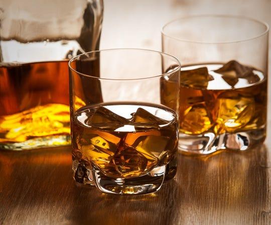 Bourbon on the rocks.