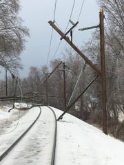 Overhead wire damage has cancelled rail service on the Gladstone Branch of the Morris & Essex Line.