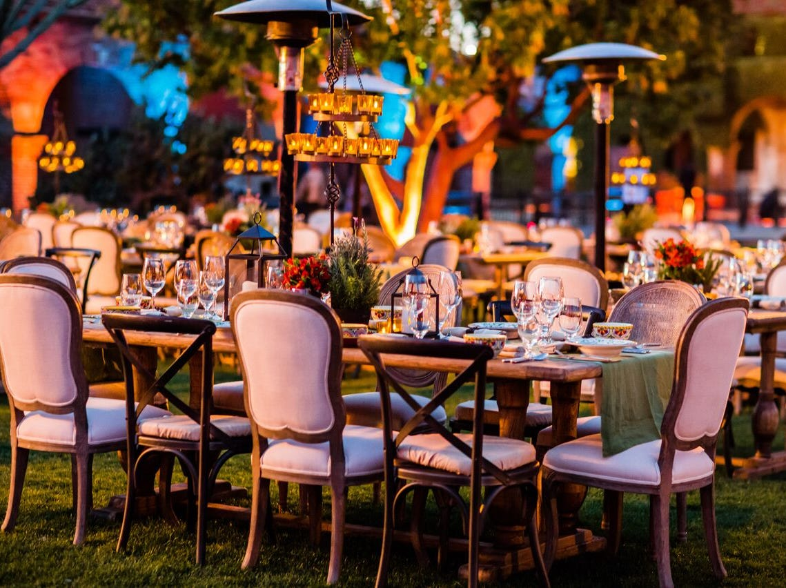 Global event planner Edward Perotti managed more than 2,000 events around the world last year — ones that includedperformancesby Ariana GrandeandNick Jonas and atspaces such as theLouvre,thePalace of Versailles, theBasilica Cistern in Istanbul andtheGreat Wall of China. Pictured here, he designed an event for the California Mission Dinner.