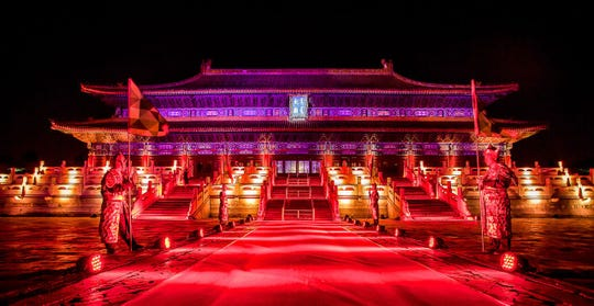 Last year, global event planner Edward Perotti managed more than 2,000 events around the world last year — ones that included performances by Ariana Grande and Nick Jonas and at spaces such as the Beijing Ancestral Temple (pictured), the Louvre, the Palace of Versailles, the Basilica Cistern in Istanbul and the Great Wall of China.